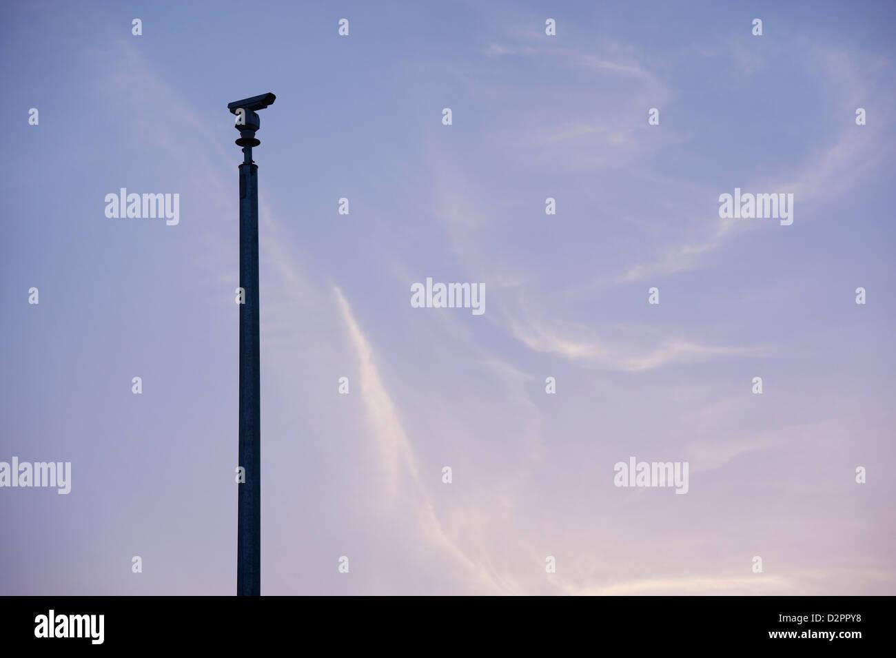 CCTV traffic monitoring camera - Stock Image