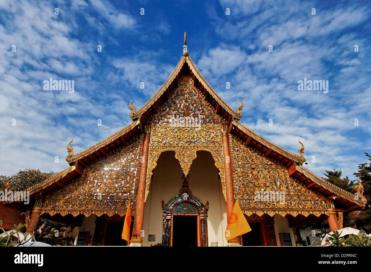 Ubosot of Wat Chiang Man / Chiang Mai / Thailand - Stock Image