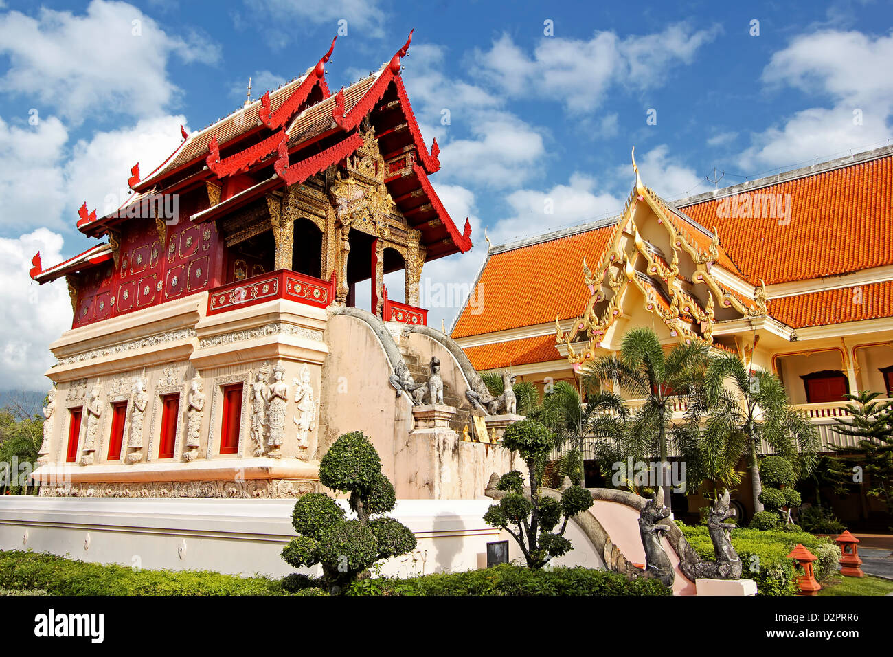 Library of Wat Phra Singh / Chiang Mai / Thailand Stock Photo