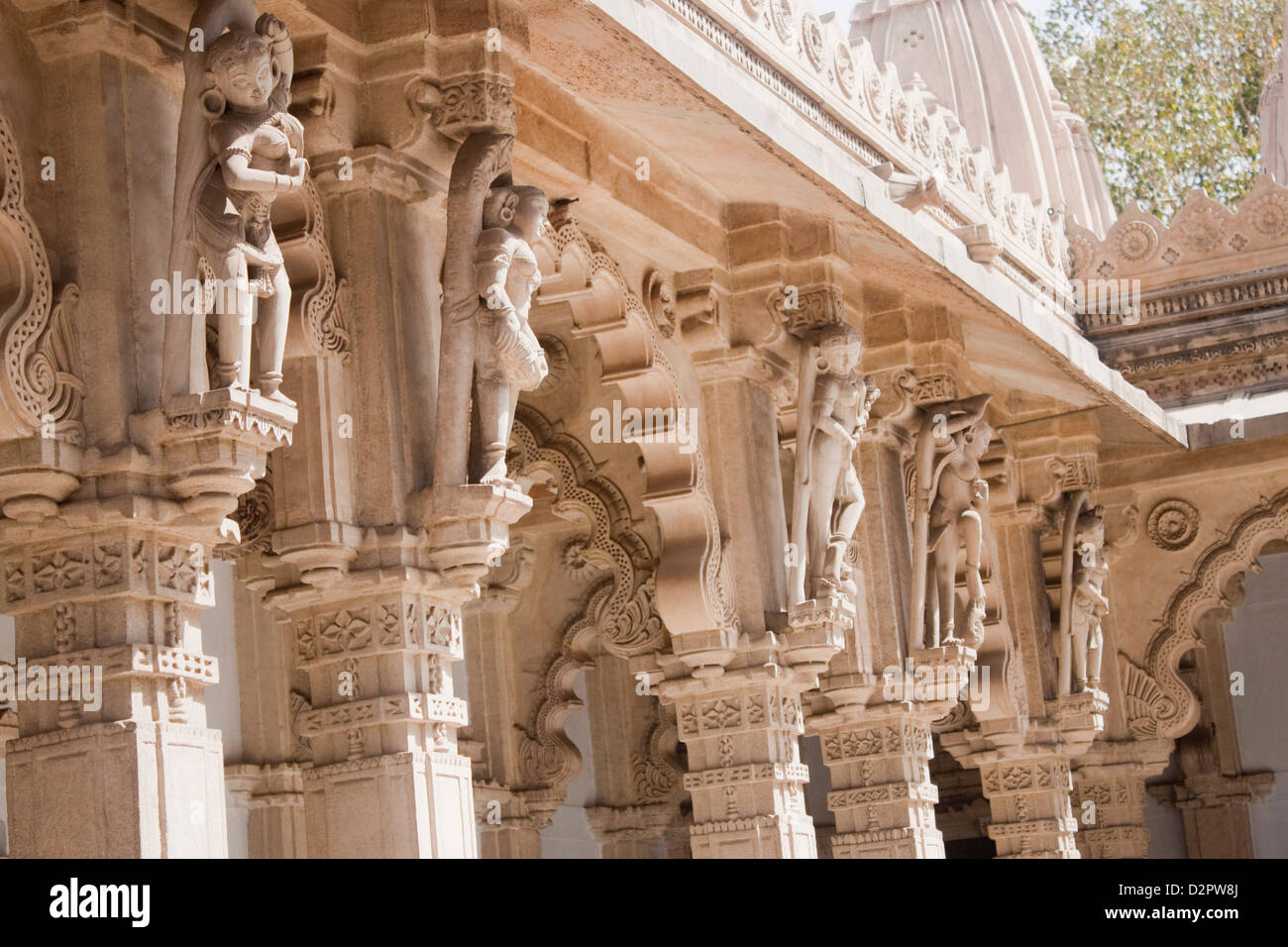 Architectural details of a temple, Swaminarayan Akshardham Temple, Ahmedabad, Gujarat, India - Stock Image