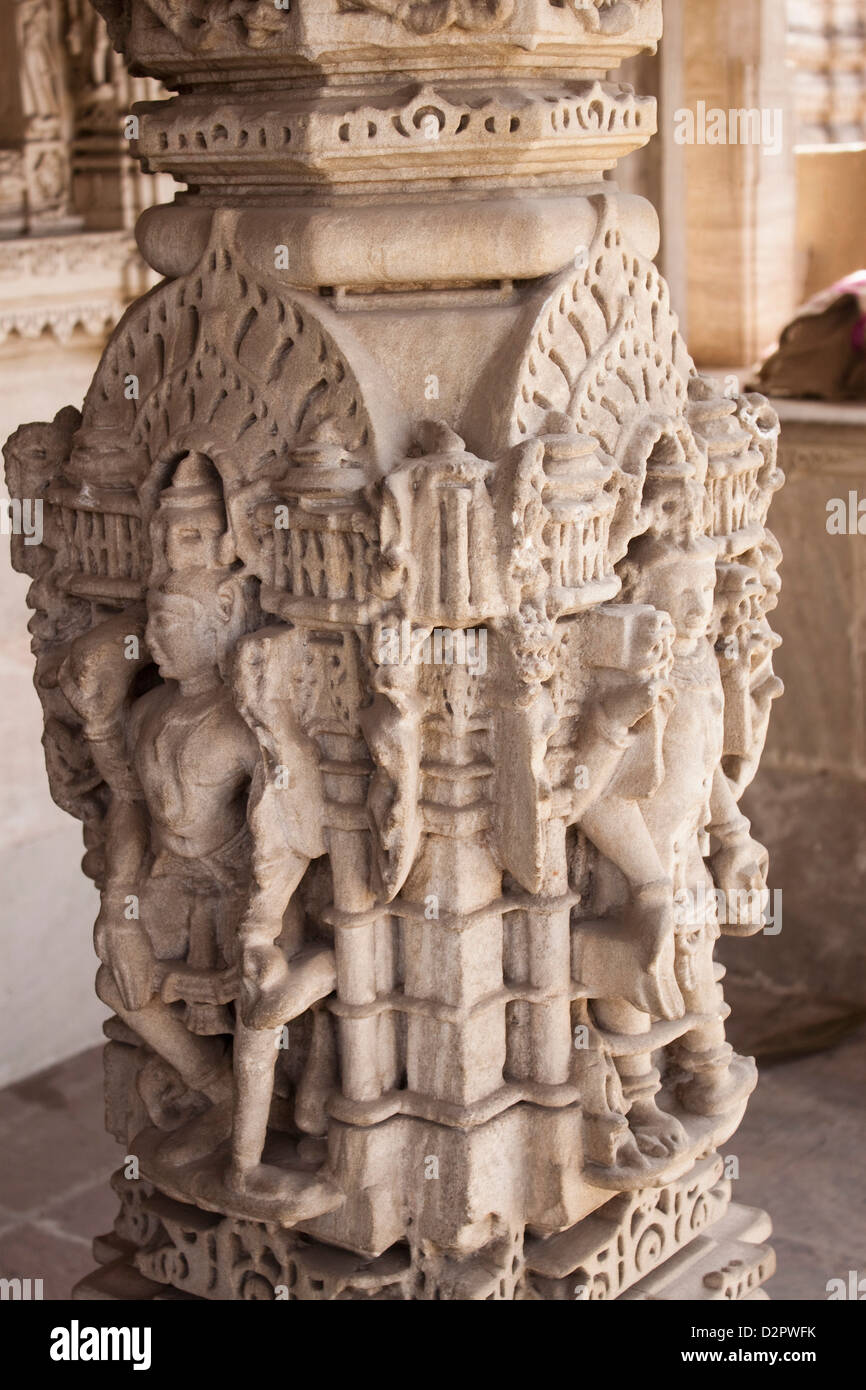 Architectural details of a temple, Swaminarayan Akshardham Temple, Ahmedabad, Gujarat, India - Stock Image