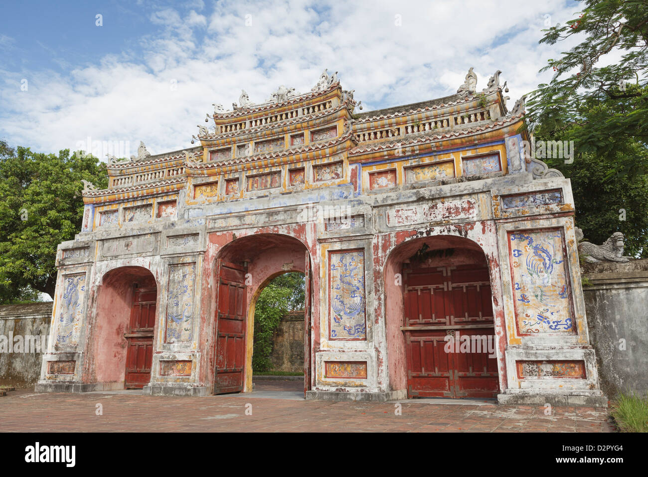Gates at the Imperial Citadel, Hue, UNESCO World Heritage Site, Vietnam, Indochina, Southeast Asia, Asia - Stock Image