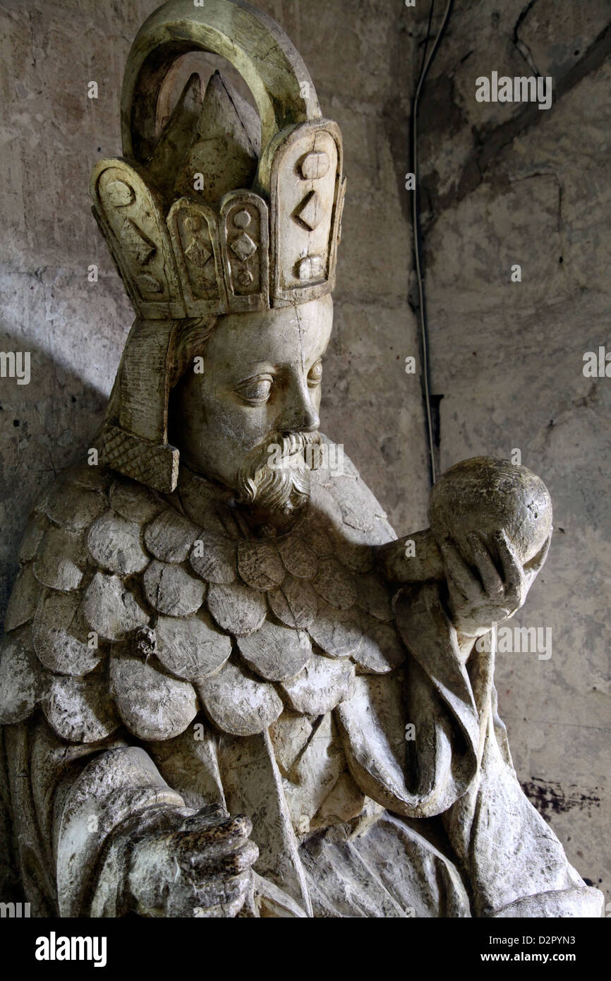 Tomb of Charles IV of Bohemia and Moravia, Palais des Papes, Avignon, Rhone Valley, Provence, France - Stock Image