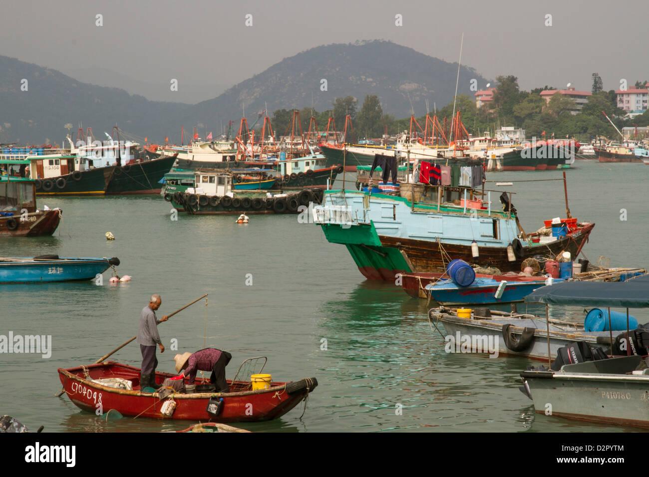 Harbour, Cheung Chau island, Hong Kong, China, Asia - Stock Image