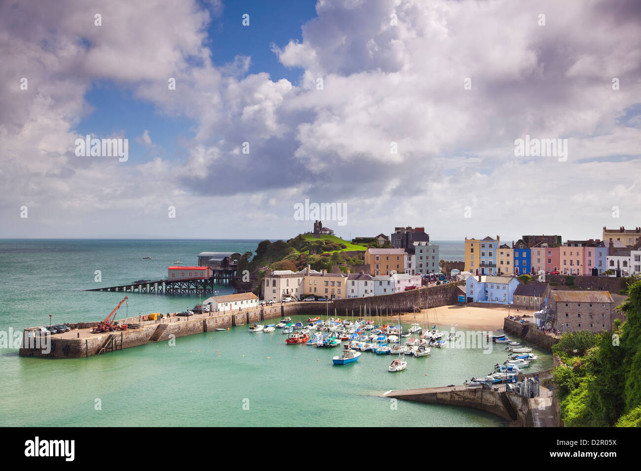Tenby Harbour, Pembrokeshire, West Wales, Wales, United Kingdom, Europe - Stock Image