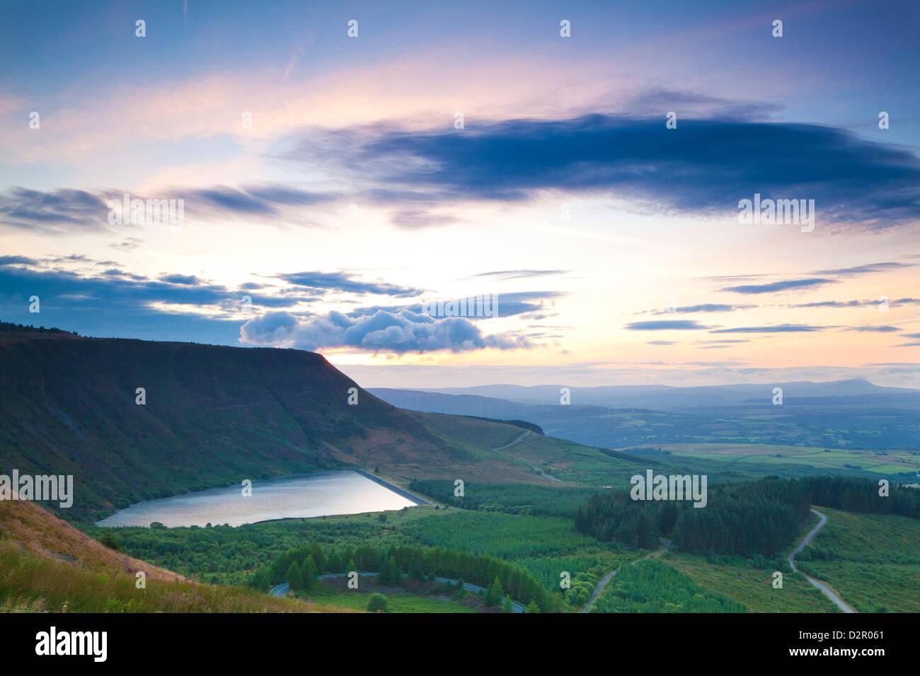 Graig y Llyn, Rhigos, Llyn Fawr, Rhondda, Glamorgan, Wales, United Kingdom, Europe - Stock Image