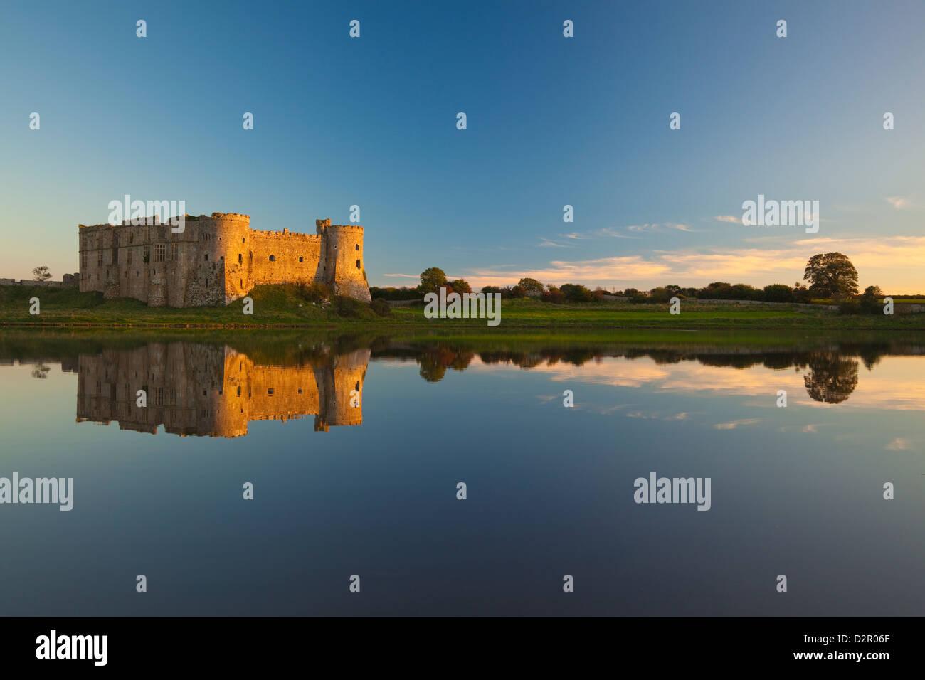 Carew Castle, Pembrokeshire, Wales, United Kingdom, Europe - Stock Image