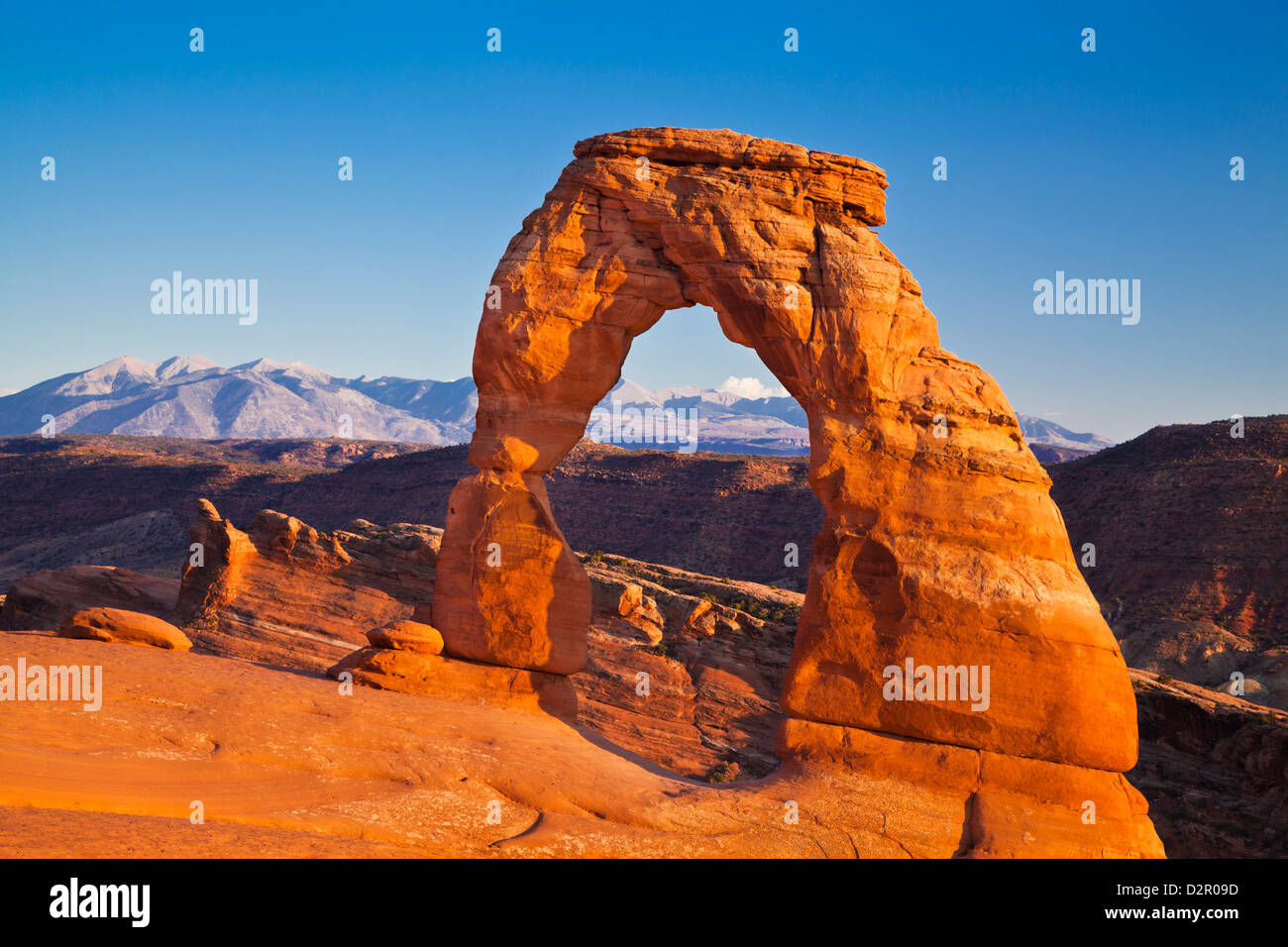 Delicate Arch, Arches National Park, near Moab, Utah, United States of America, North America - Stock Image