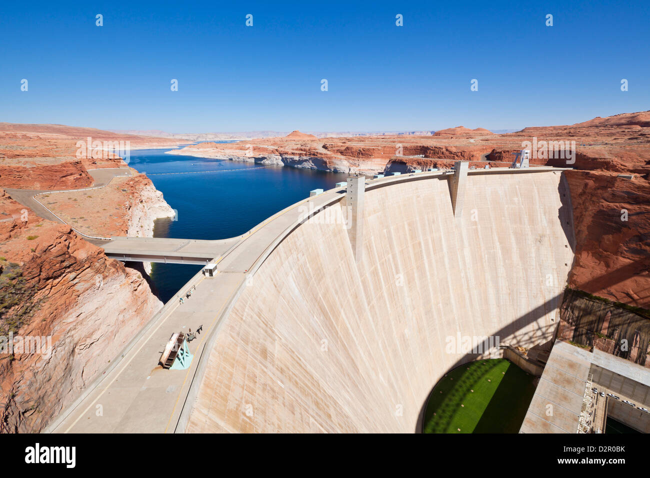 Glen Canyon Dam, Lake Powell, Page, Arizona, United States of America, North America - Stock Image