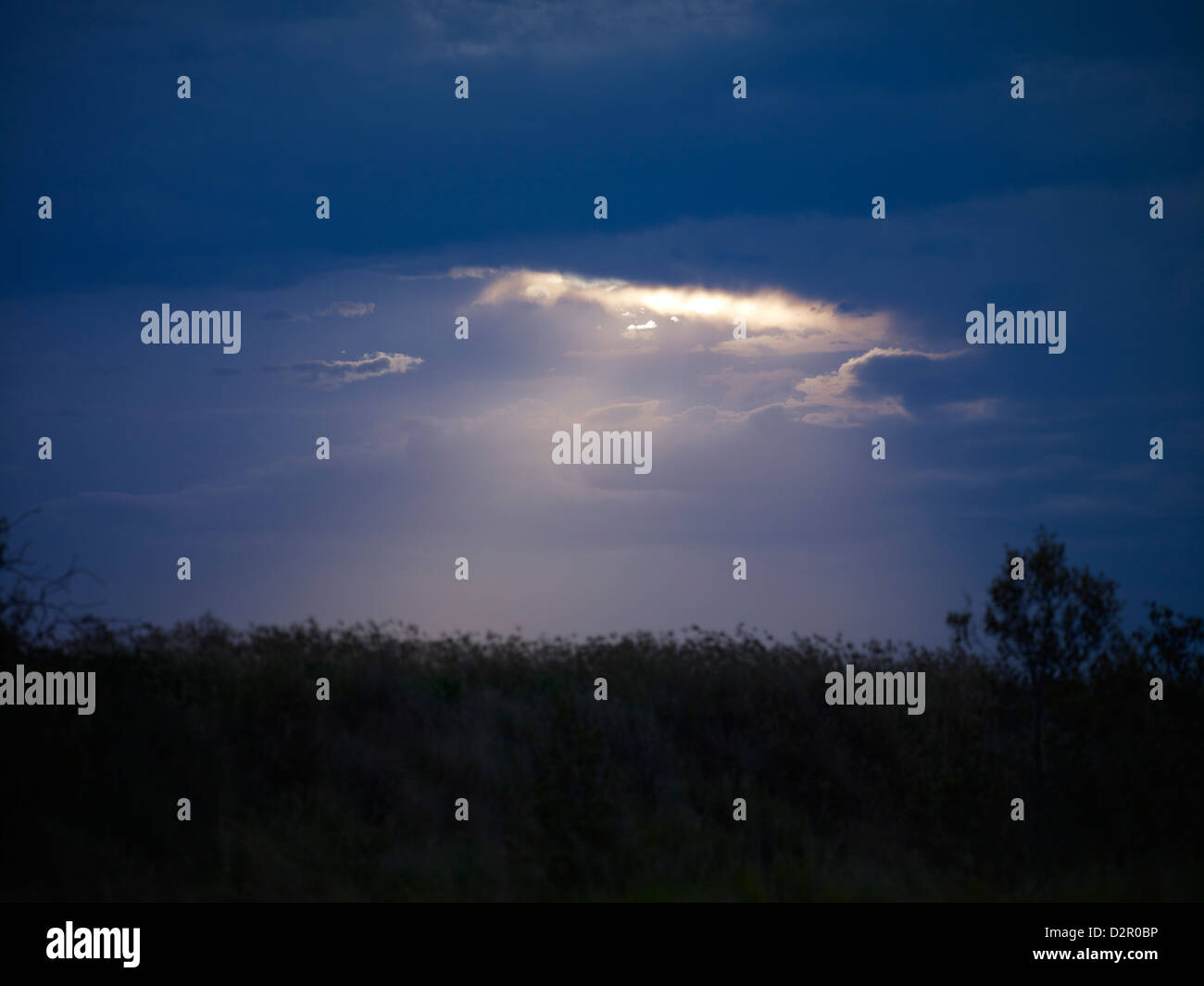 Landscape and storm clouds - Stock Image