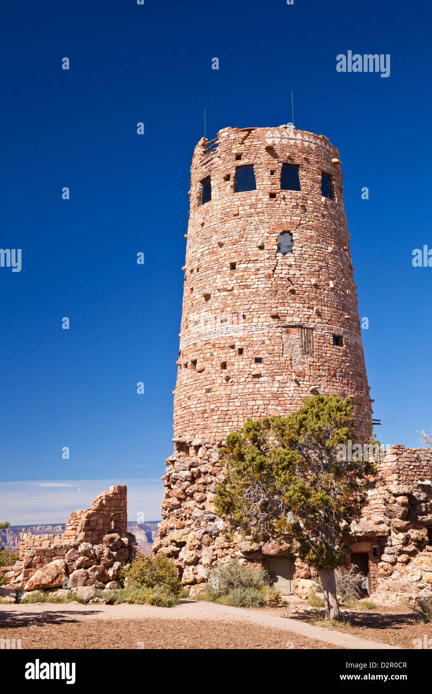 Desert View Watchtower, South Rim, Grand Canyon National Park, Arizona, USA - Stock Image