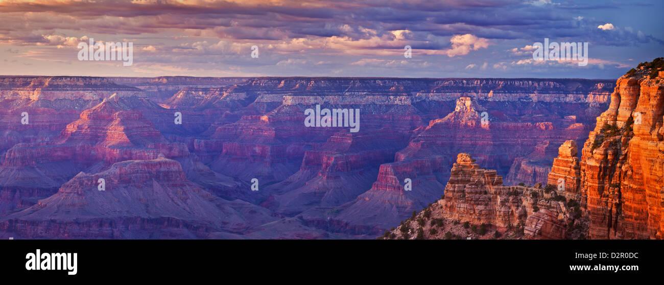 South Kaibab Trailhead overlook, South Rim, Grand Canyon National Park, Arizona, USA Stock Photo