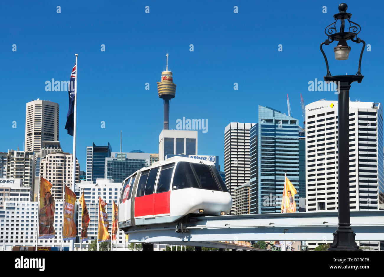 Monorail, Sydney, New South Wales, Australia, Pacific - Stock Image