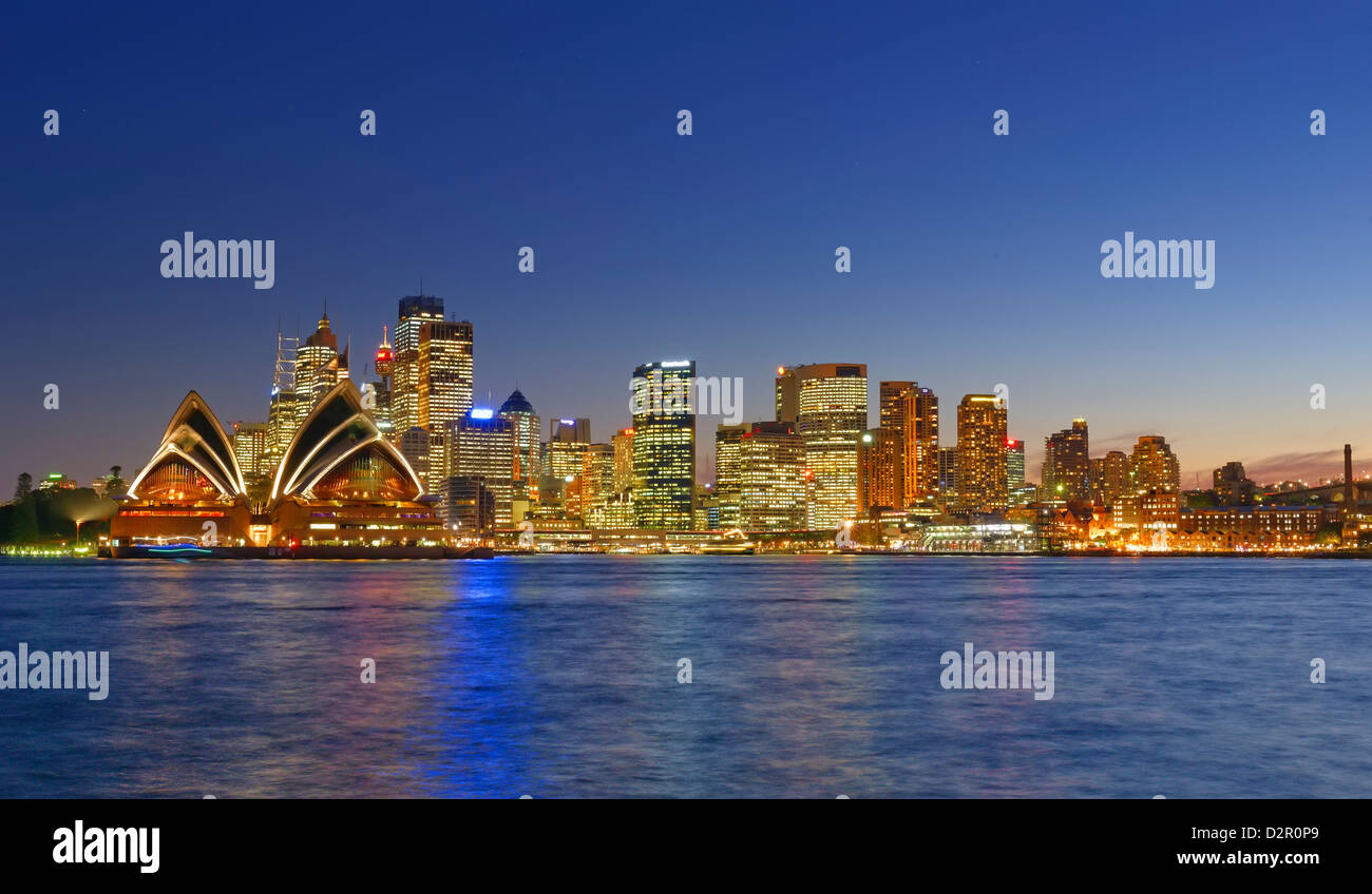 Opera House and Sydney skyline, Sydney, New South Wales, Australia, Pacific - Stock Image