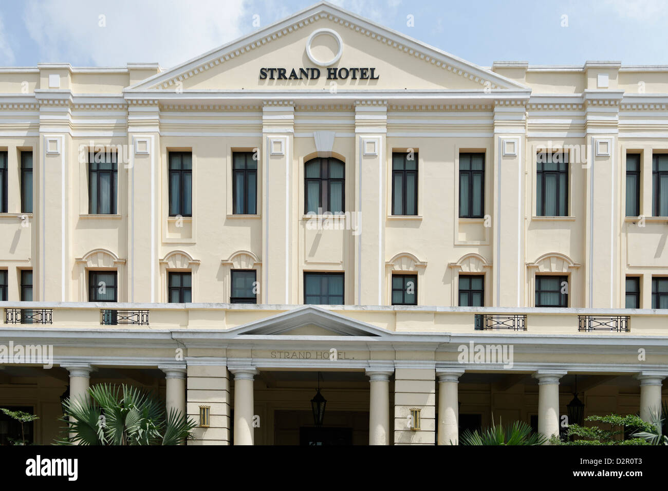 The Strand Hotel, a Victorian-style hotel built in 1896, Yangon (Rangoon), Yangon region, Myanmar - Stock Image