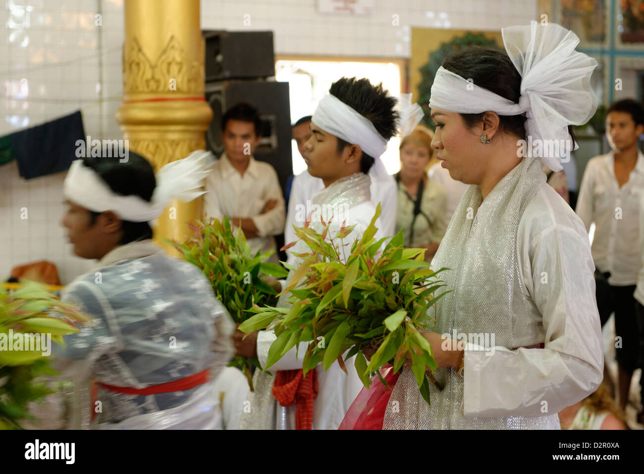 Festival of Ko Myo Shin, the most important nats (spirits) of the national pantheon, Pyin U Lwin, Mandalay Division, - Stock Image