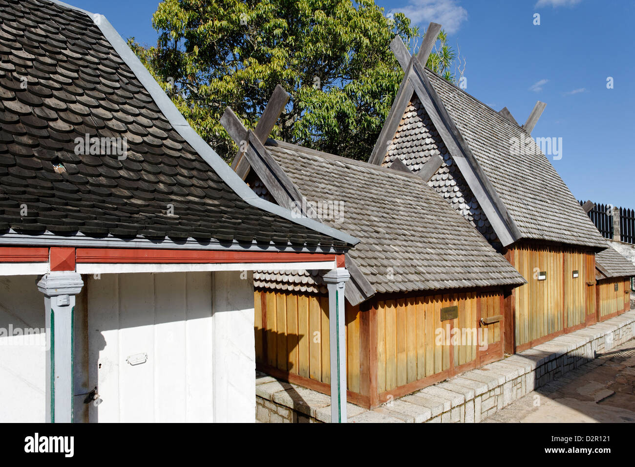 Residences and burial sites of members of the royalty of Imerina, Royal Hill of Ambohimanga, Antananarivo Province, - Stock Image