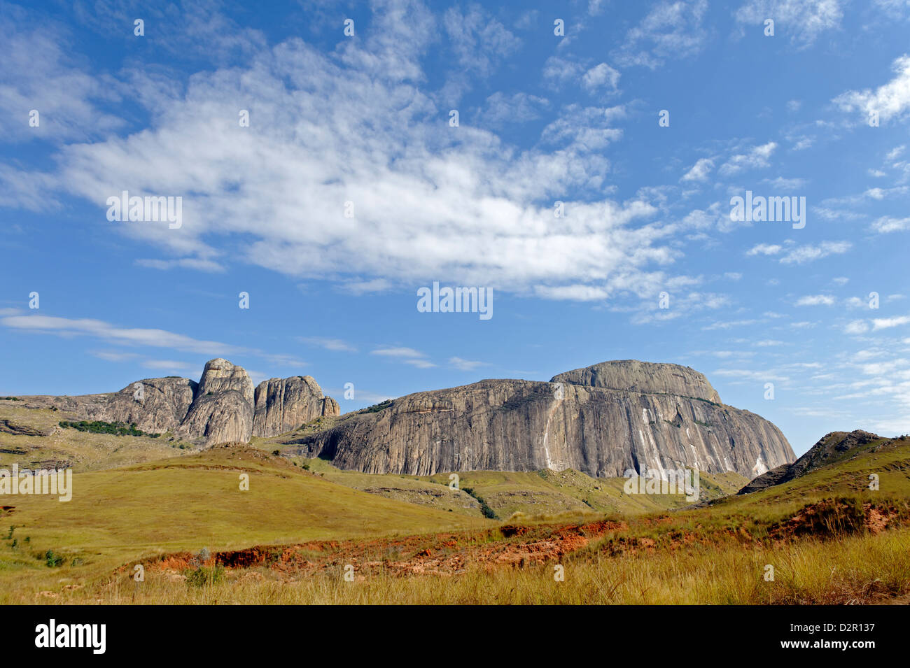 Ifandana rock, the place from which the Betsileo fell preferring death to Merina domination, Madagascar, Africa - Stock Image
