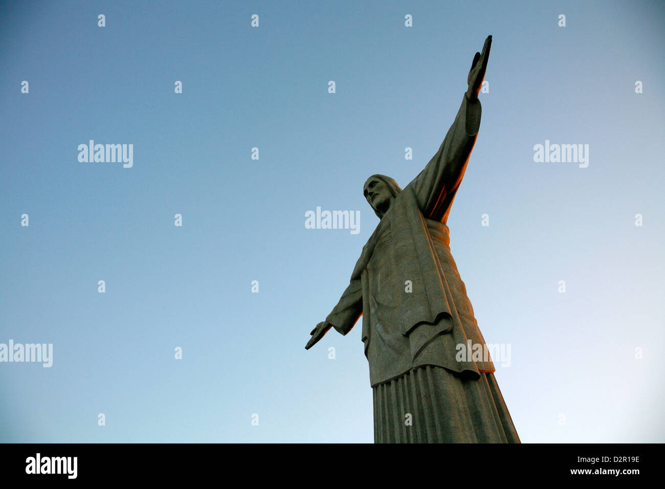 The statue of Christ the Redeemer on top of the Corcovado mountain, Rio de Janeiro, Brazil, South America Stock Photo