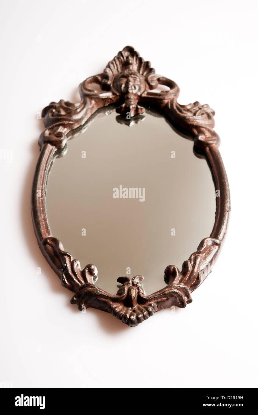 antique hand mirror - Stock Image