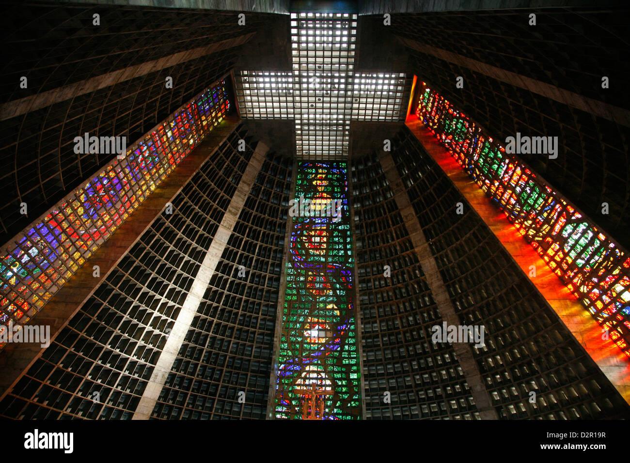 Catedral Metropolitana (Metropolitan Cathedral), Rio de Janeiro, Brazil, South America - Stock Image