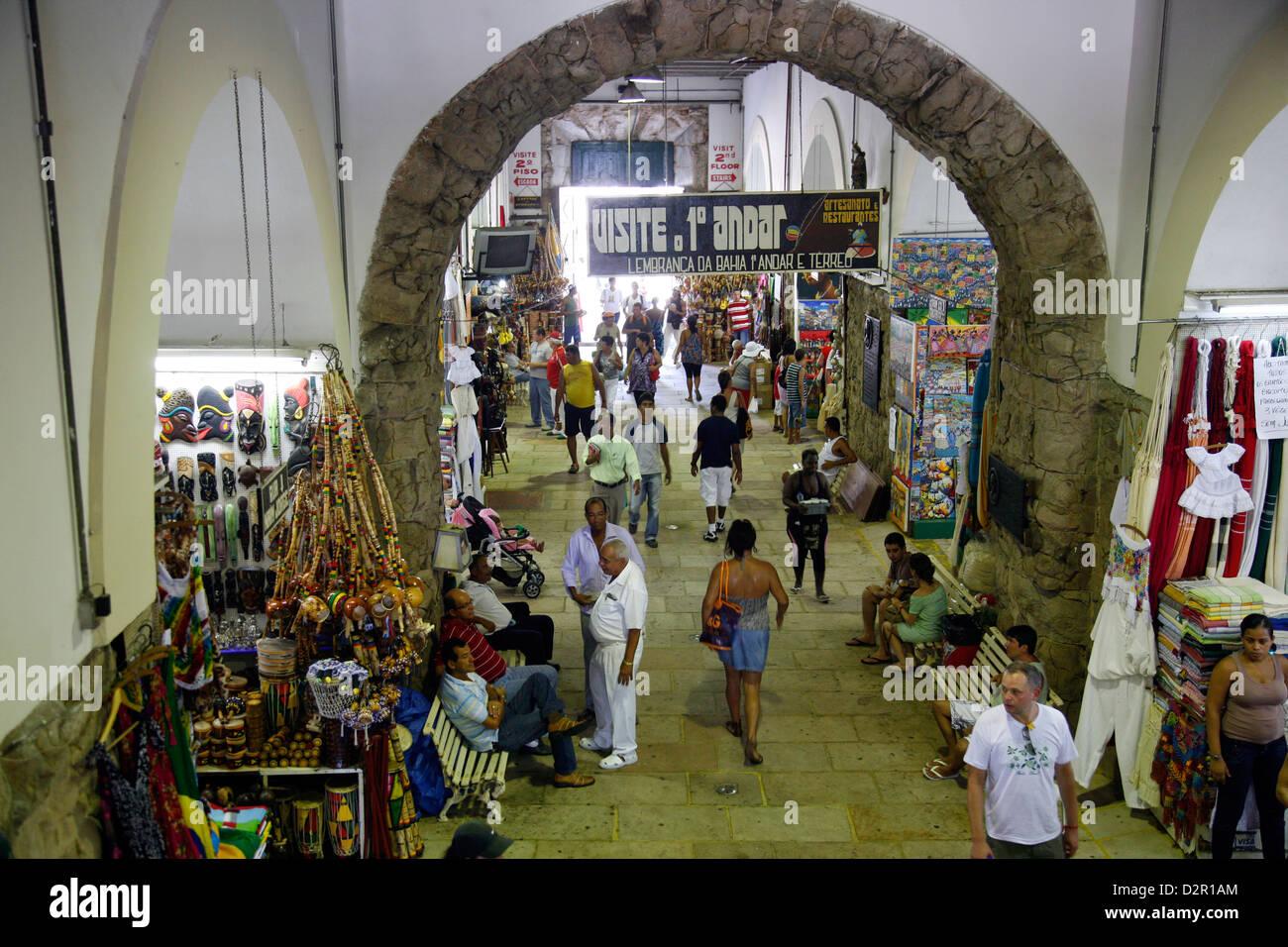 Mercado Modelo, Salvador (Salvador de Bahia), Bahia, Brazil, South America - Stock Image