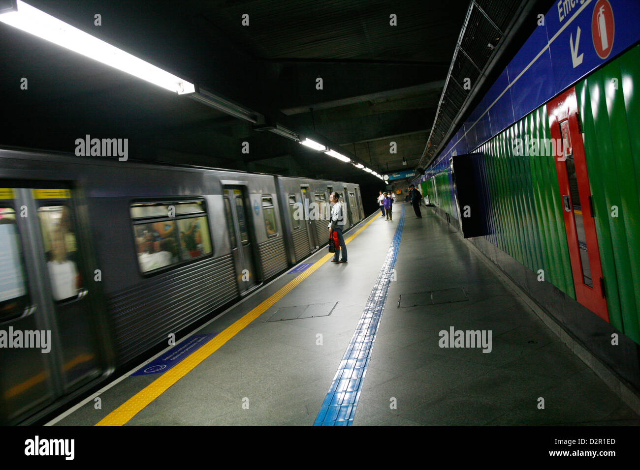 Metro station, Sao Paulo, Brazil, South America - Stock Image
