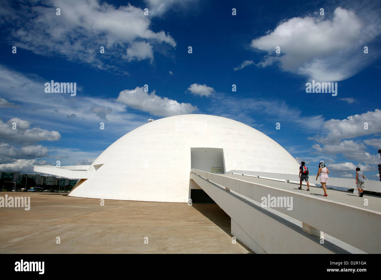 Museo Nacional (National Museum) designed by Oscar Niemeyer, Brasilia, UNESCO World Heritage Site, Brazil, South - Stock Image