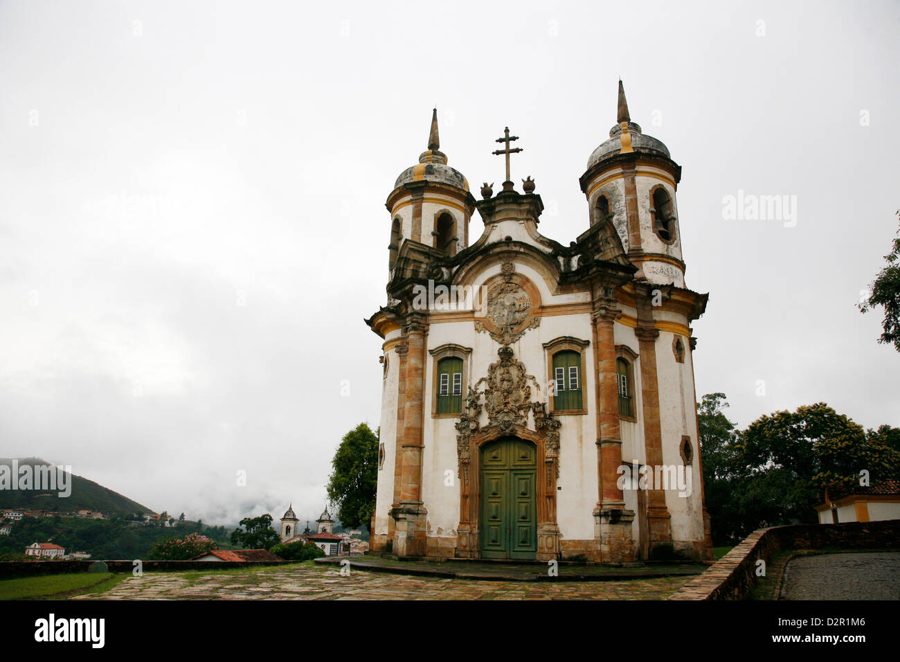 Sao Francisco de Assis church, Ouro Preto, UNESCO World Heritage Site, Minas Gerais, Brazil, South America Stock Photo