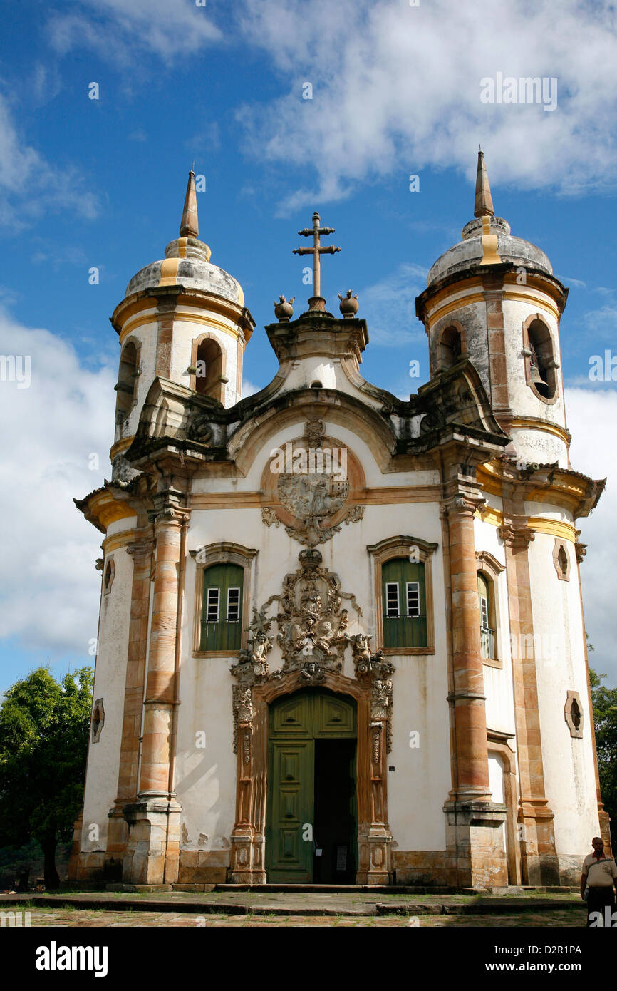 Sao Francisco de Assis church, Ouro Preto, UNESCO World Heritage Site, Minas Gerais, Brazil, South America Stock Photo