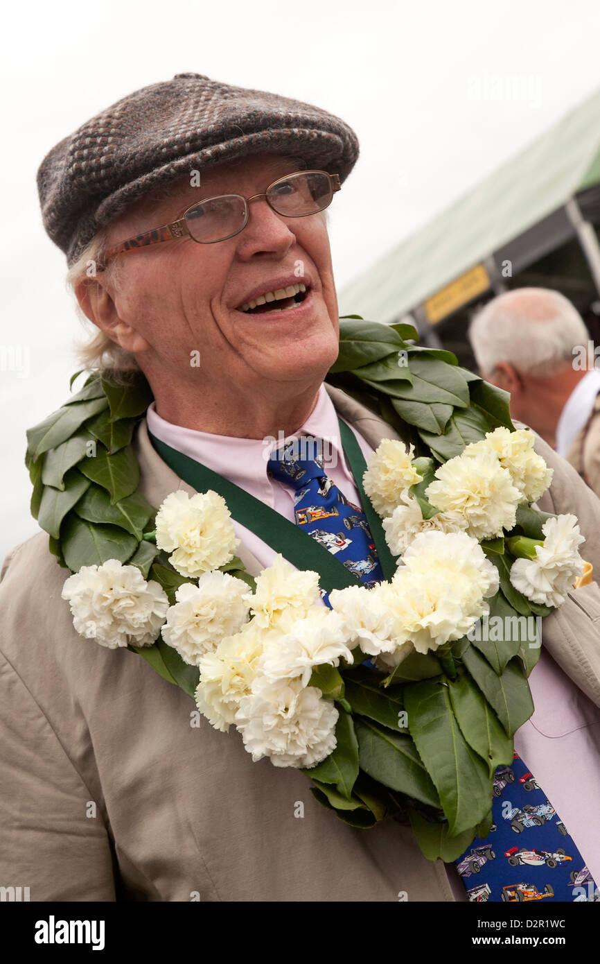 American racing driver Dan Gurney at Goodwood revival race meeting - Stock Image