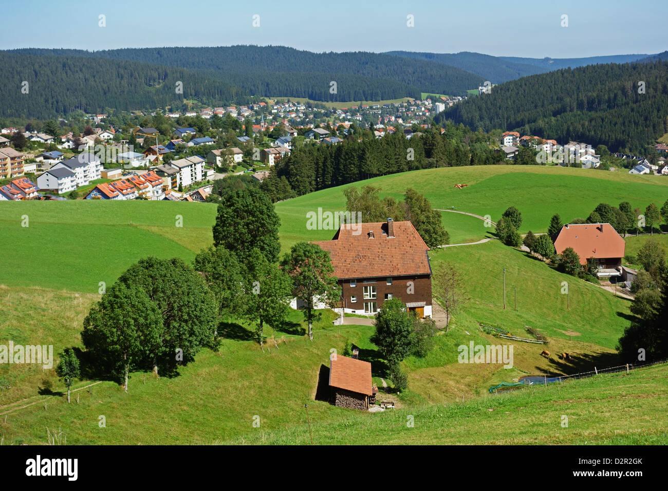 View of Furtwangen, Black Forest, Baden-Wurttemberg, Germany, Europe - Stock Image