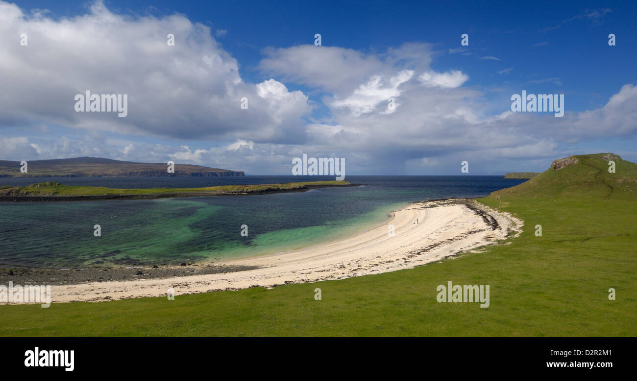 Coral Beach at An Dorneil, Loch Dunvegan, Isle of Skye, Inner Hebrides, Scotland, United Kingdom, Europe - Stock Image