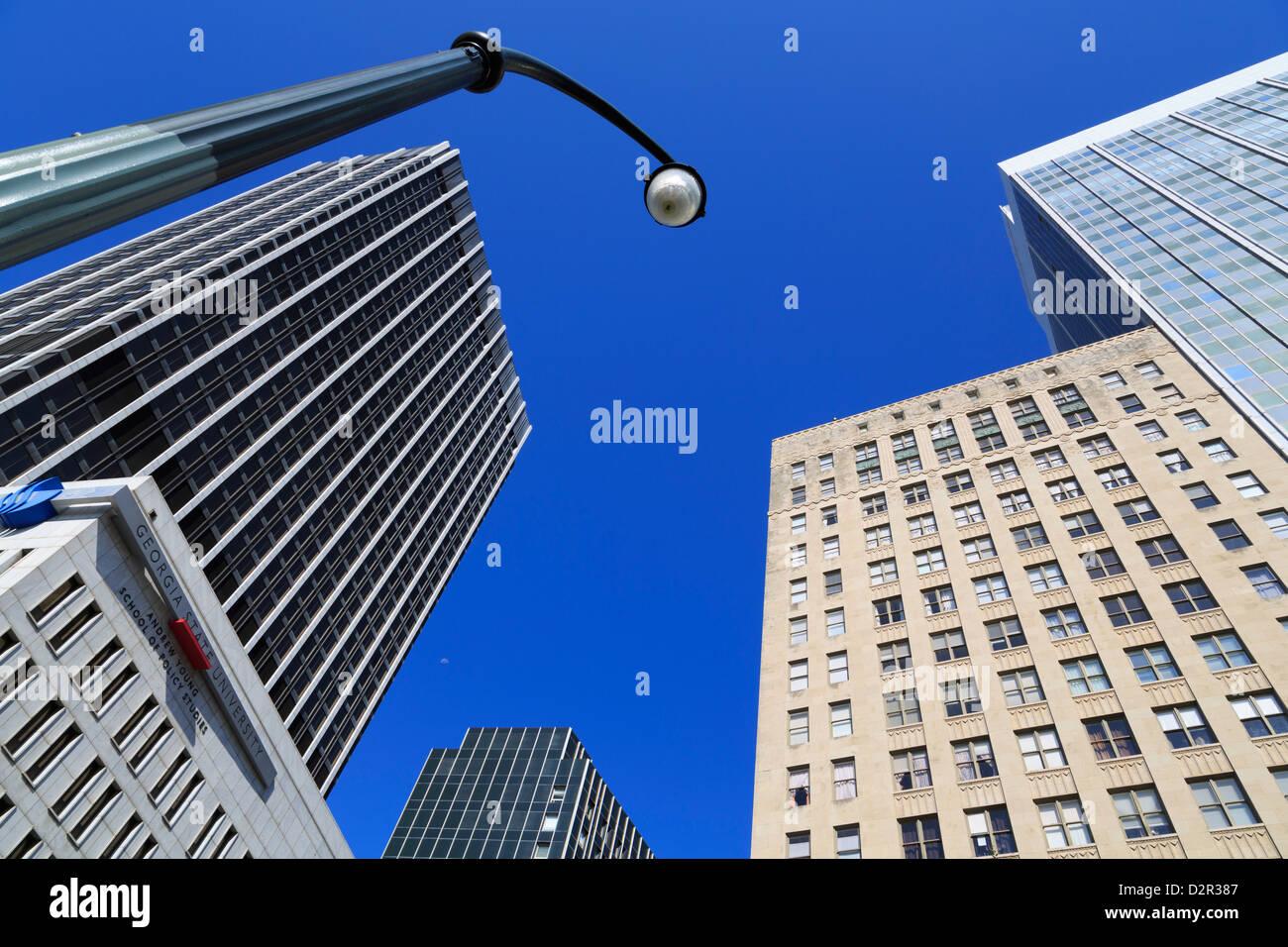 Skyscrapers in the Five Points District, Atlanta, Georgia, United States of America, North America - Stock Image