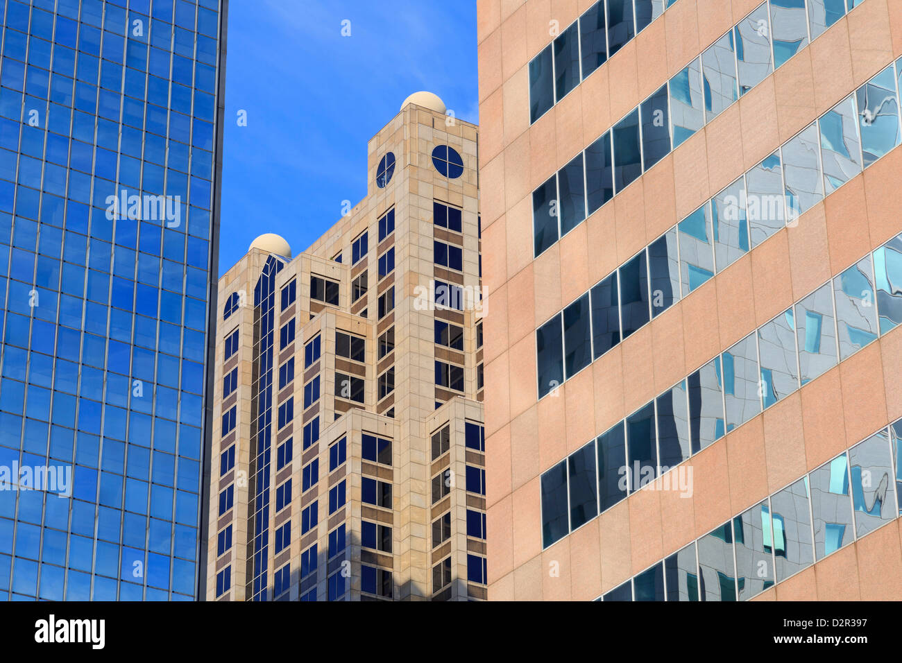Financial District on 5th Avenue, Birmingham, Alabama, United States of America, North America - Stock Image