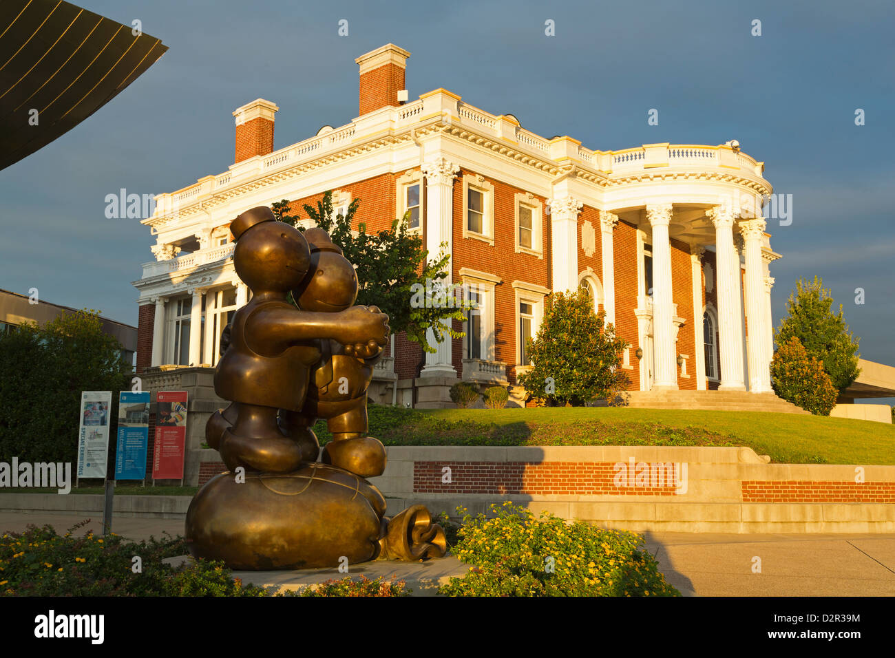 Hunter Museum of American Art, Bluff View Arts District, Chattanooga, Tennessee, United States of America, North - Stock Image
