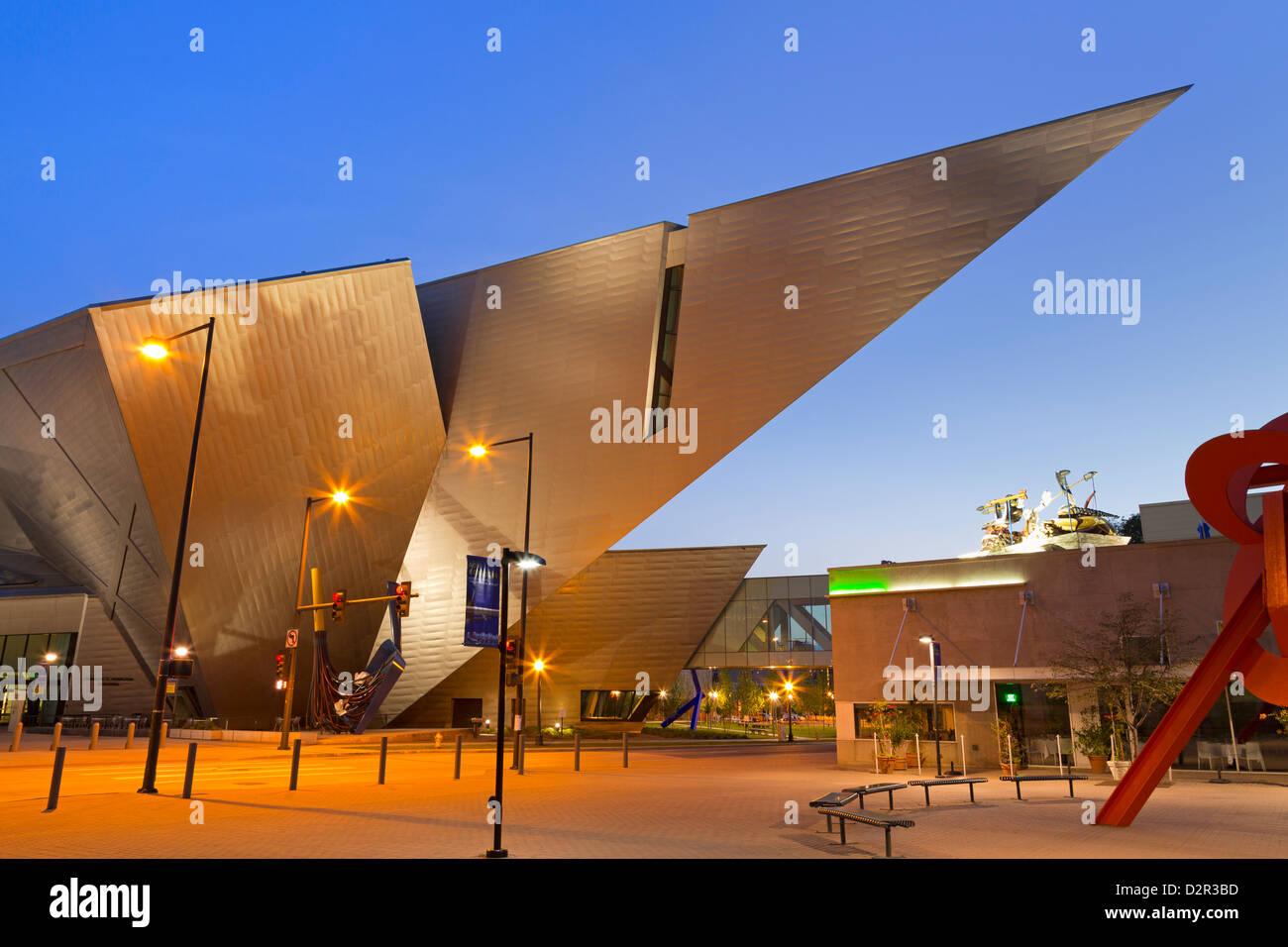 Denver Art Museum, Denver, Colorado, United States of America, North America - Stock Image