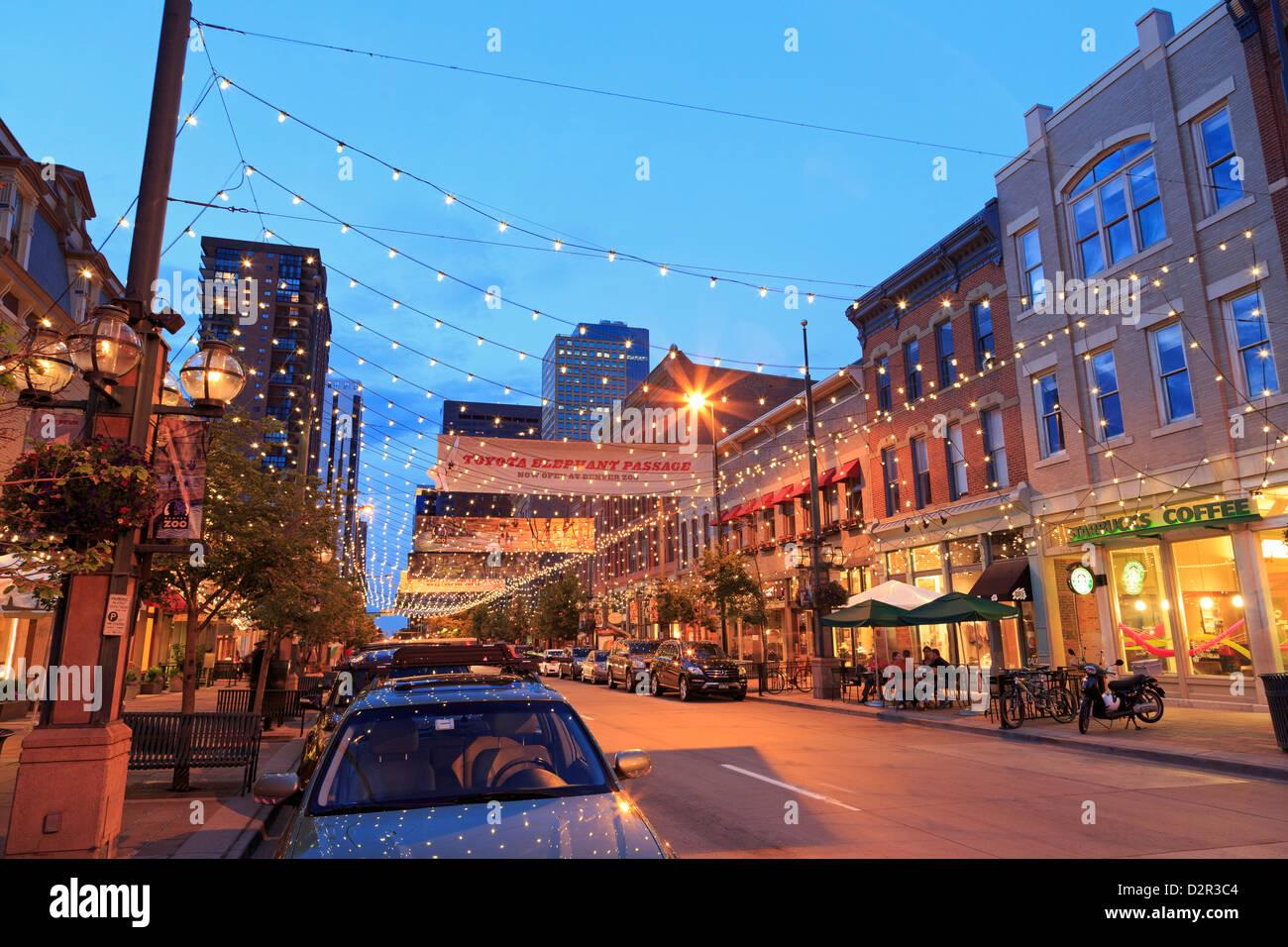 Larimer Square, Denver, Colorado, United States of America, North America - Stock Image