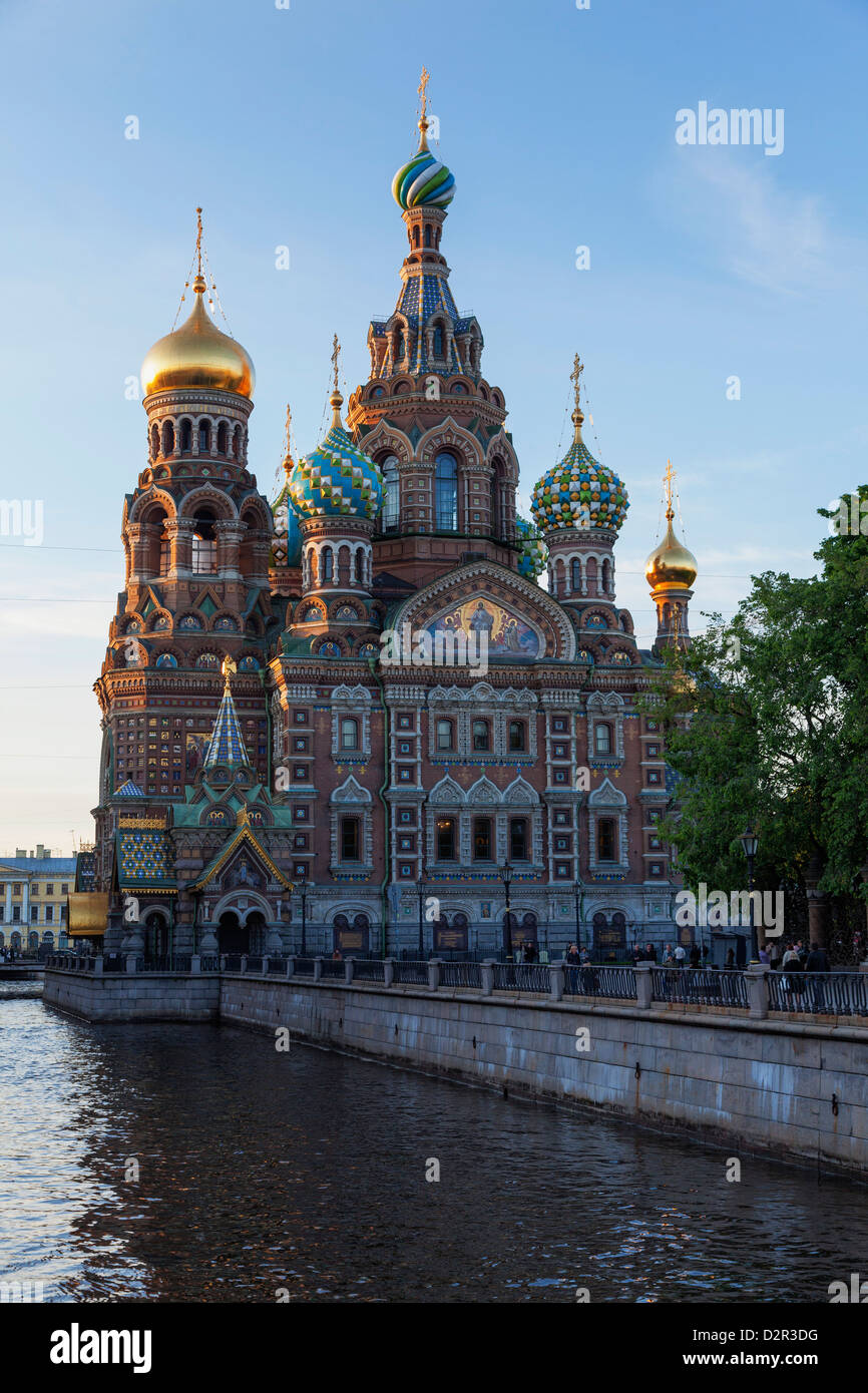 The Church on Spilled Blood, UNESCO World Heritage Site, on the Kanal Griboedova, St. Petersburg, Russia, Europe - Stock Image