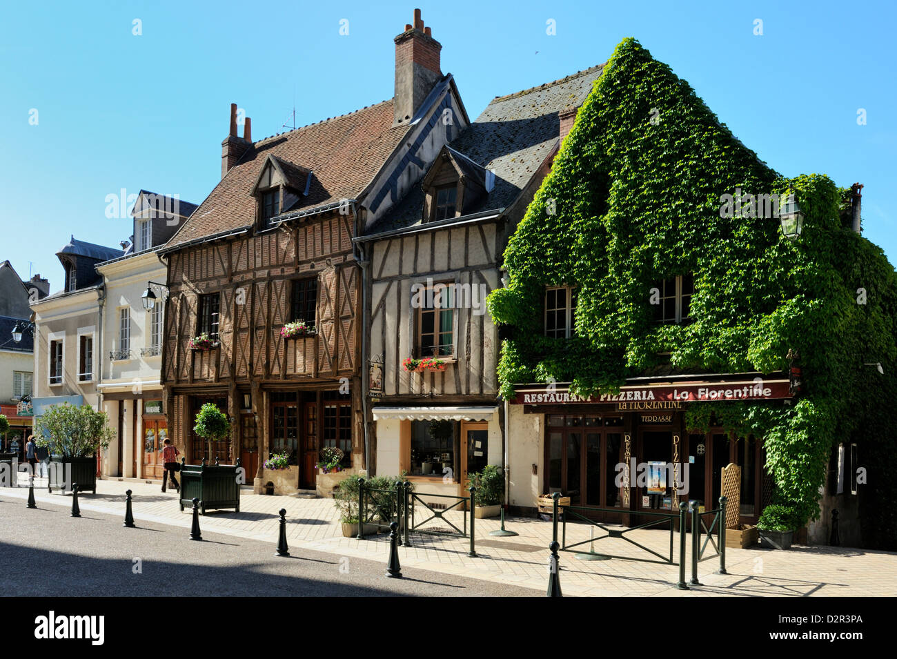 Medieval half-timbered buildings, Amboise, UNESCO World Heritage Site, Indre-et-Loire, Centre, France, Europe - Stock Image