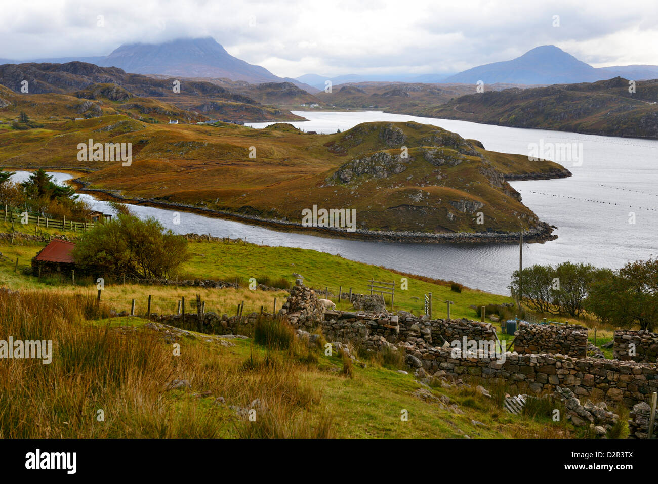 Rugged landscape, North West Highlands, Scotland, United Kingdom, Europe - Stock Image