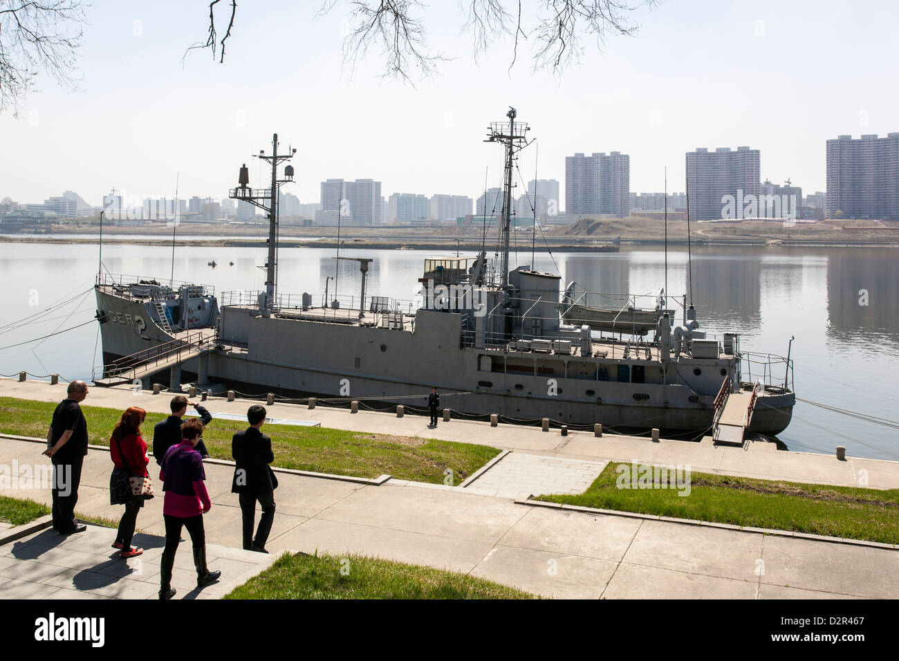 Pueblo, the American Spy Ship captured by the North Koreans in the 1960s, Pyongyang, North Korea - Stock Image