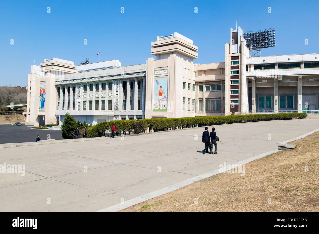 Kim Il Sung Stadium, Pyongyang, Democratic People's Republic of Korea (DPRK), North Korea, Asia - Stock Image