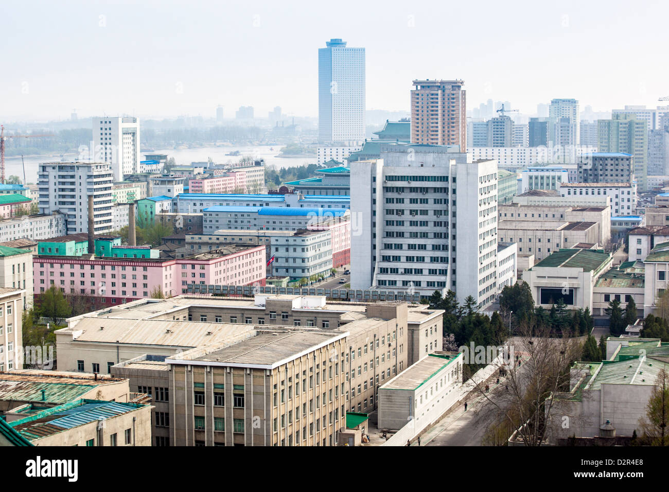 City skyline, Pyongyang, Democratic People's Republic of Korea (DPRK), North Korea, Asia - Stock Image