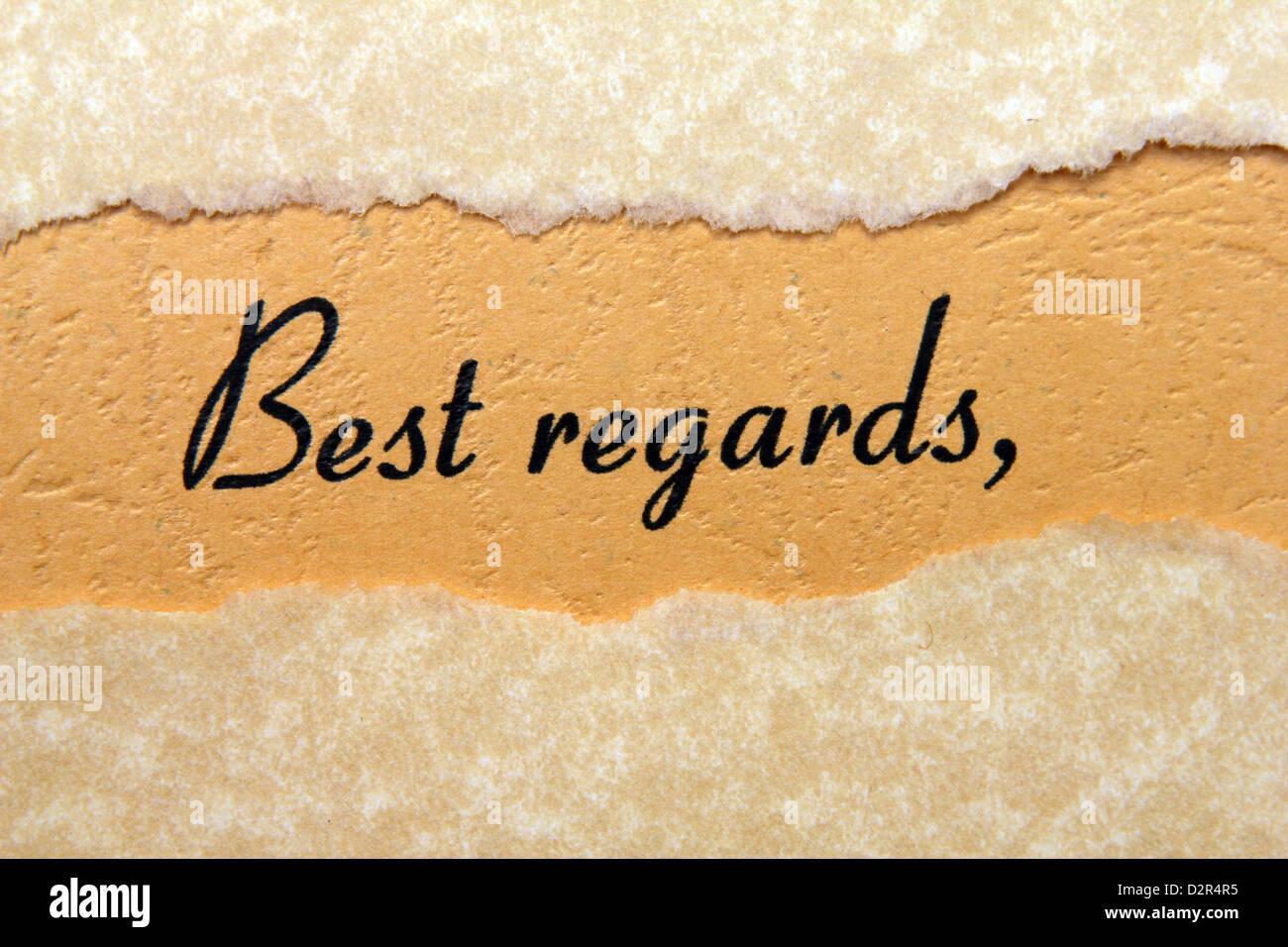 Regards best