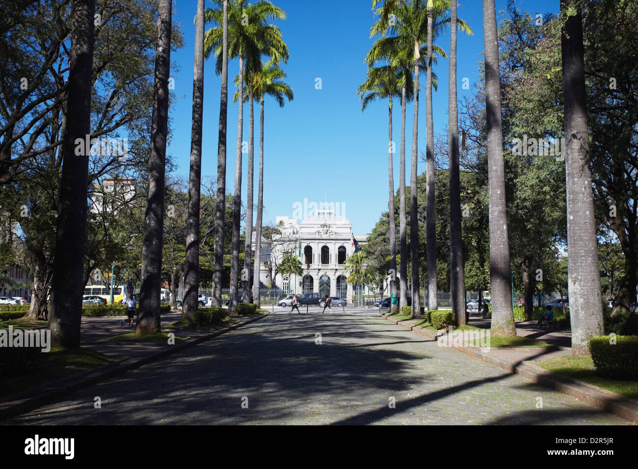 Palacio do Governo (Palace of the Government), Praca da Liberdade, Belo Horizonte, Minas Gerais, Brazil, South America - Stock Image