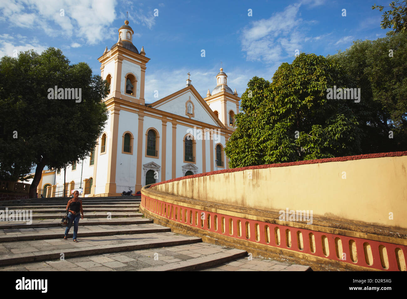 Metropolitan Cathedral of Our Lady of Conceicao, Manaus, Amazonas, Brazil, South America - Stock Image