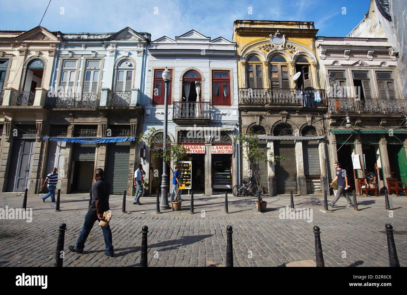 Colonial architecture, Fatima, Rio de Janeiro, Brazil, South America Stock Photo
