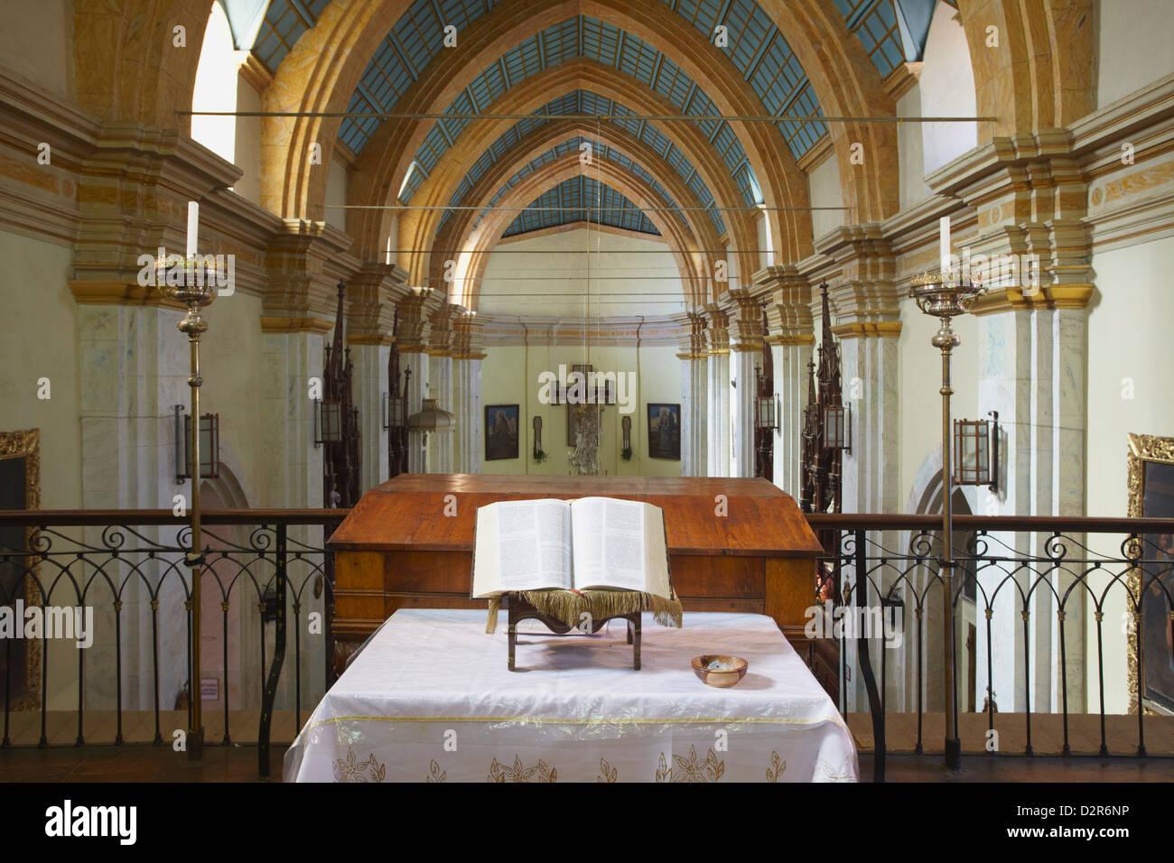 Interior of Iglesia de la Recoleta (Recoleta Church), Sucre, UNESCO World Heritage Site, Bolivia, South America - Stock Image