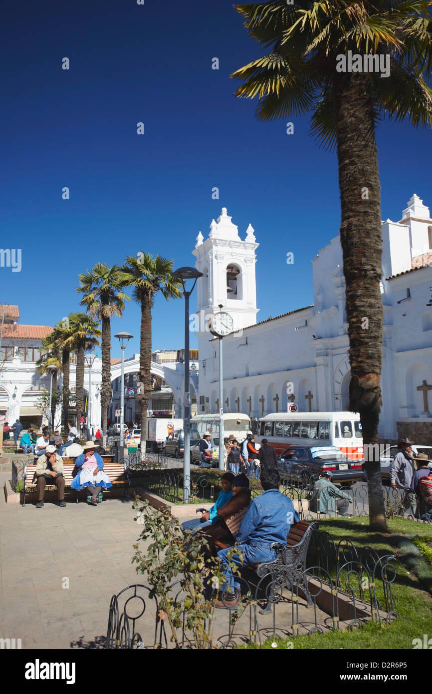 Iglesia de San Francisco, Sucre, UNESCO World Heritage Site, Bolivia, South America - Stock Image